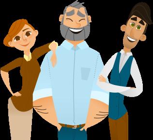 dessin de personnes heureuse d'être formée à des stages chez generation formation montpellier