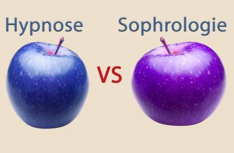 image qui exprime la difference entre l'hypnose et la sophrologie ...